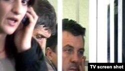 Российские офицеры не признали себя виновными в тбилисском суде. Кадр Первого канала www.1tv.ru