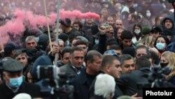 Yerevanda müxalifətin aksiyası, 5 dekabr 2020