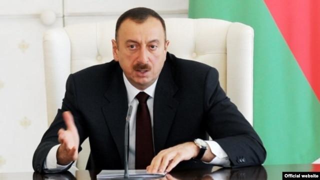 """Azerbaijani President Ilham Aliyev: """"Enough is enough"""" (file photo)"""