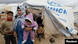 في مخيم الزعتري الاردني لللاجئين السوريين