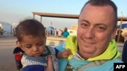 Alan Henning in an undated photograph taken at a refugee camp on the Turkish-Syria border