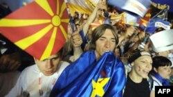 Архивска фотографија. Протестен митинг на СДСМ во Скопје.