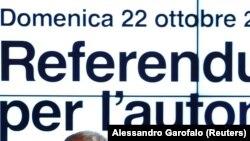 Shpallja për referendum në rajonin e Lombardisë