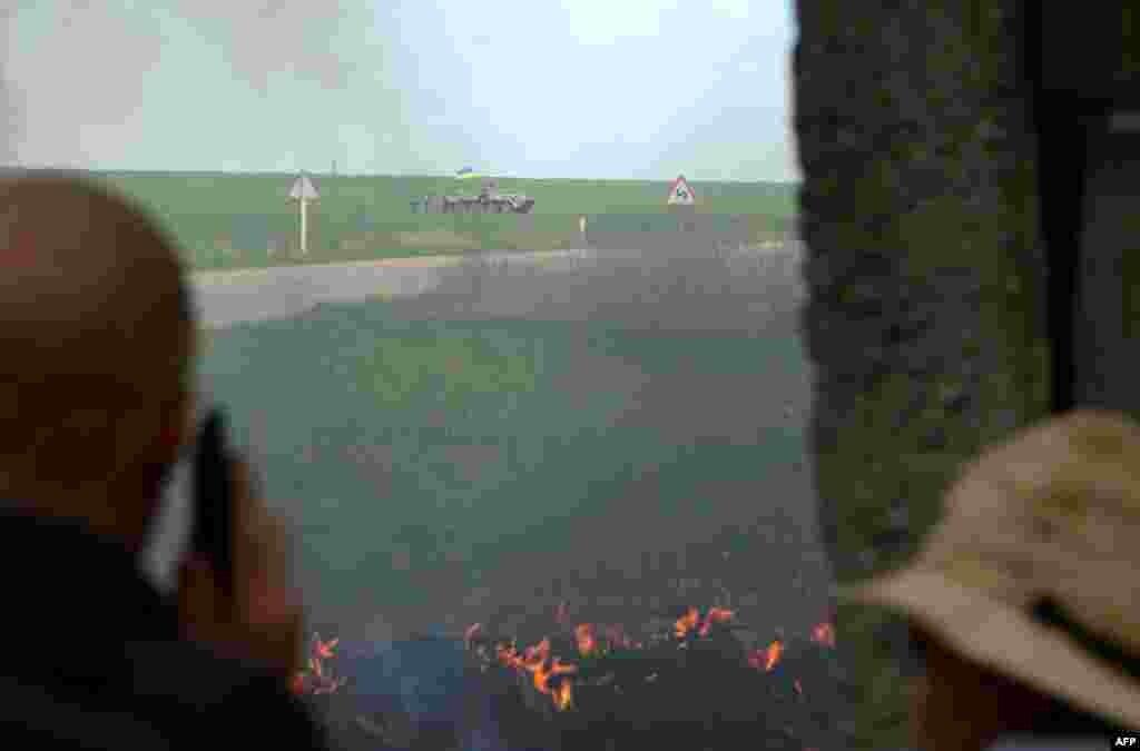 Slavyansk yaxınlığında Ukrayna təhlükəsizlik qüvvələrinin postu