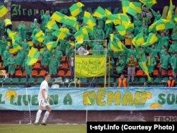 Фанаты футбольнага клюбу «Нёман», архіўнае фота