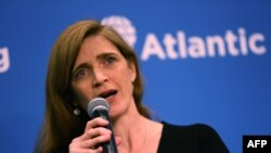 Outgoing U.S. ambassador to the United Nations Samantha Power