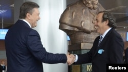 Зустріч Віктора Януковича з Мішелем Платіні, 12 квітня 2012 року