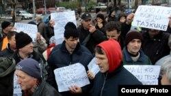 Štrajk radnika Vranica i Hidrogradnje, jedan od preko 500 koliko ih je održano u proteklih pet godina, foto: depo.ba