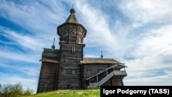 The church in the city of Kondopoga had been one of the tallest wooden churches in northern Russia. (file photo)