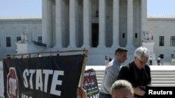 ABŞ-da ölüm cəzasına etirazlar, arxiv fotosu