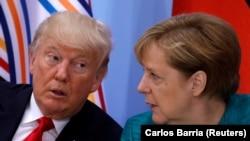 Presidenti amerikan, Donald Trump dhe kancelarja gjermane, Angela Merkel, foto nga arkivi