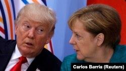 Дональд Трамп и Ангела Меркель (архивное фото)