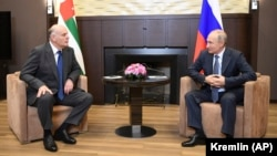 Аслан Бжания и Владимир Путин