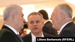 Vladimir Voronin, Vlad Plahotniuc și Dumitru Diacov în Parlament