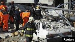 Место одного из взрывов в Анкаре