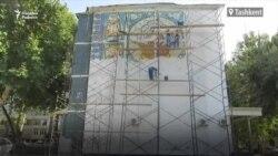 Мозаику, стертую на стене многоэтажного дома, восстановили после публикации 12 июля статьи «Озодлика»