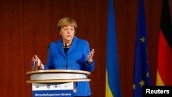 Канцлер Німеччини Ангела Меркель під час прес-конференції у Берліні. 23 жовтня 2015 року