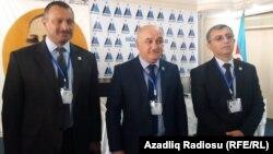 Tofiq Yaqublu, Arif Hacılı (ortada) və Yadigar Sadıqlı, 13 oktyabr 2019