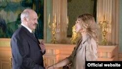 Ксенія Сабчак і Аляксандар Лукашэнка, 2014 год