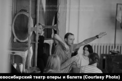 """Одна из репетиций """"Тангейзера"""" в Новосибирском театре оперы и балета"""