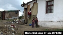 Roma children from the Trizla settlement in Prilep, Macedonia.