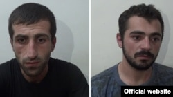 Armenia - Ruben Grigoian and Gevorg Melkonian, members of an armed opposition group who police say have surrendered to the Armenian authorities, 31 Jul, 2016