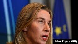 فدریکا موگرینی، مسئول سیاست خارجی اتحادیه اروپا، (عکس از آرشیو)