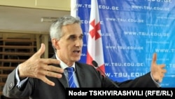 Georgia -- Gedmin speaking at Tbilisi State University