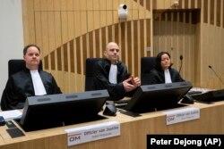 Прокуроры на процессе по делу MH17