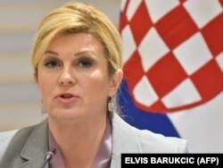 Croatian President Kolinda Grabar-Kitarovic (file photo)