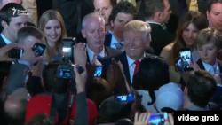 ABŞ-nyň saýlanan prezidenti Donald Tramp öz tarapdarlarynyň arasynda