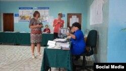 На избирательном участке в Юматово