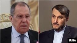 Министриностранных дел РоссииСергей Лавров (слева) и глава МИДИранаХосейн Амир Абдоллахиян