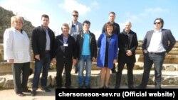Група німецьких політиків і бізнесменів у Херсонесі, 28 березня 2017 року