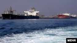 پایانه صادراتی نفت خام ایران در خارک.
