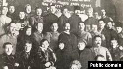 """Участники Казанской конференции коммунистов мари в июле 1920 года. Из книги Ксенофонта Санукова """"Истории Марийской автономии"""""""