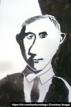 Портрет президента. Долгополов Иван, 9 лет.