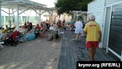 Пляж «Горький» в Євпаторії, липень 2020 року