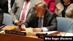 Sekretari i përgjithshëm i Kombeve të Bashkuara,Antonio Guterres.