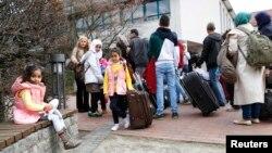 Общежитие для мигрантов в городе Фридланд в Германии