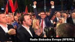Митинг пред Владата на опозициската ВМРО-ДПМНЕ на 2 јуни 2018