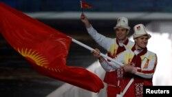 Кыргыз спортчулары Сочидеги кышкы олимпиаданын ачылышында. Февраль, 2014-жыл.