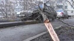 Ураганный ветер пронесся по Ставрополю