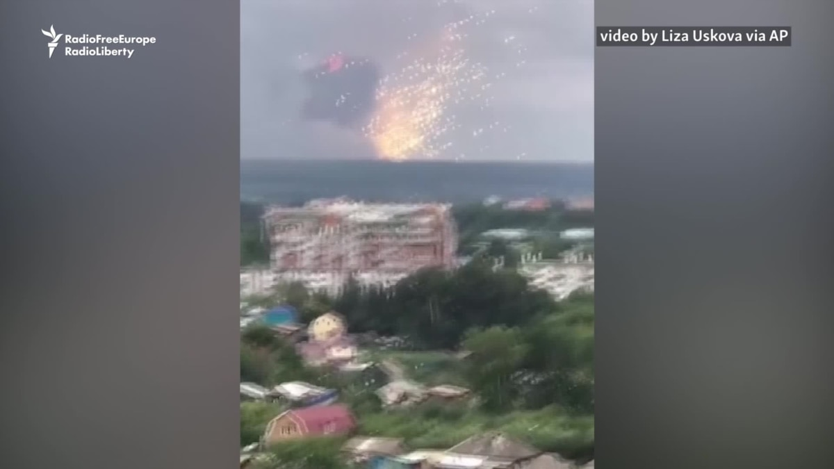 Explosions, Fire At Russian Ammunition Depot Prompts Mass Evacuation