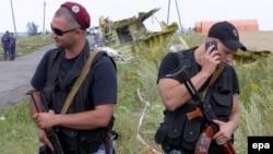 Ուկրաինա - Ռուսամետ զինյալները հսկում են «Բոինգ-777»-ի անկման վայրը, Հրաբովո, 20-ը հուլիսի, 2014թ․