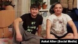 Москвада киши колдуу болгондор. Муратбек Маматалиев жана Искендербек Жолборсов. Сүрөттү ИИМ таратты.