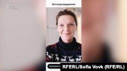 Софія Вовк робить селфі на прохання застосунку «Дій Вдома», 10 квітня 2020 року