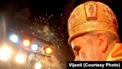 Mitropolit Amfilohije prilikom dočeka pravoslavne Nove godine u Podgorici, 13. januar 2011. FOTO: VIJESTI