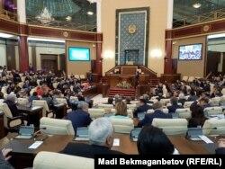 Совместное заседание палат парламента Казахстана. Астана, 30 июня 2016 года.