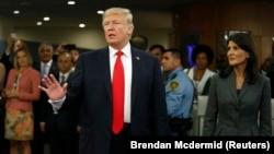 Дональд Трамп у штаб-квартирі ООН в Нью-Йорку, 18 вересня 2017 року